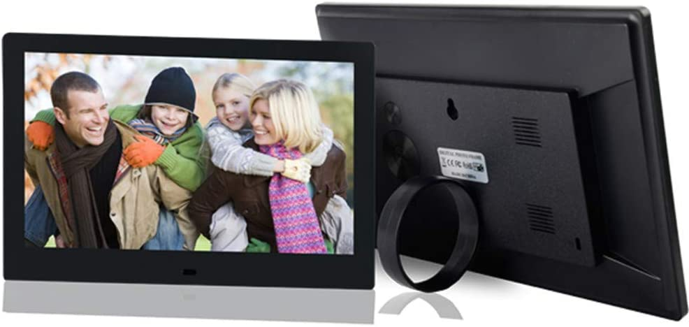 Ring Bracket Video Player// MP3// Calendar//Zoom in /& Rotate Pictures//USB and SD Card Slots Remote Control White 10.1 inch Wide Screen 16 10 Digital Photo Frame 1280X800 HD IPS Digital Picture Frame