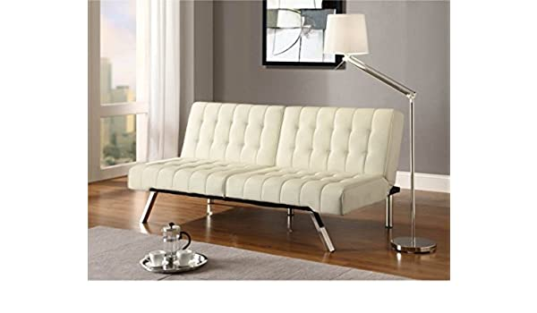 Amazon.com: K&A Company Vanilla Bed Sofa Sleeper Lounge Futon Chaise ...
