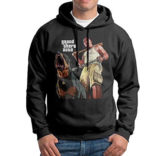 TNTG Men's Sweatshirt - Gran Theft Auto Black Size XXL (Gta San Andreas Cheats Xbox)