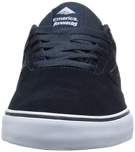 Emerica The Vulc Navy da Skateboard Reynolds Bleu Blu Low 478 da Gum Scarpe White Uomo fRcdHfqrw