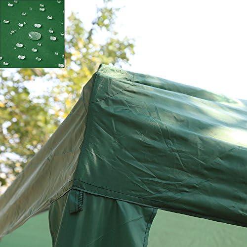 Cenador plegable de 3 x 6 m de HG® para jardín de PVC, plegable, impermeable, verde