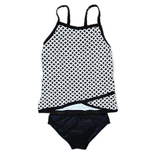SHISHANG Las mujeres traje de baño de Europa y Estados Unidos dividieron honda traje de baño bikini alta del medio ambiente - la natación elástica vadeo pattern