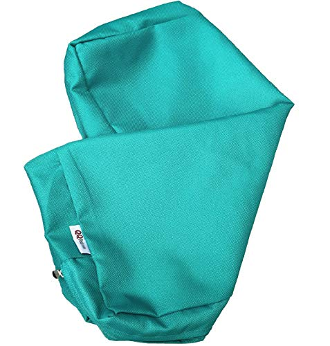 QQbed Outdoor Patio Chair Washable Cushion Pillow Seat Covers 24 X 22 – Replacement Covers Only 6Pack 24 X22 , Peacock Blue