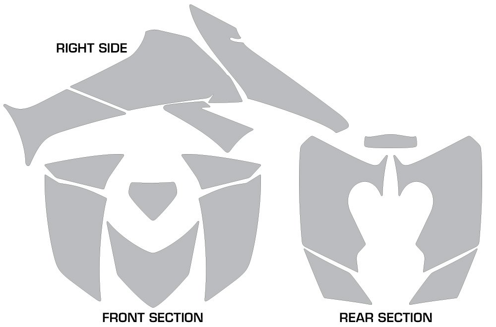 AMR Racing Graphics Kit for ATV Honda 250 TRX//EX//X 2006-2017 ATV CARBON X RED