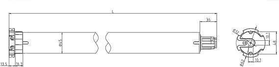avec 2X /émetteurs intelligents pour Le contr/ôle dentr/ée Id/éal pour Les Rideaux et Les Stores Moteur pour volet Roulant Tubulaire 40 SW, 25kg Force de Traction PALMAT