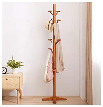 Amazon.com: Angels home Coat Stand Clothes Rack Wooden ...