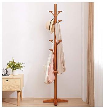 Amazon.com: Angels home Coat Stand Clothes Rack Wooden ...