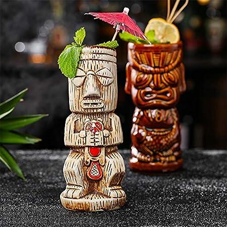 SEHNL Wine Jarra Cocktail Bar Creativa de Hollywood Dios Estatua cráneo Copa Bebidas frías de Mezcla Divertida del Vino de Cristal de Bricolaje Taza Smoothie Recipiente de cerámica Mujeres Regalo