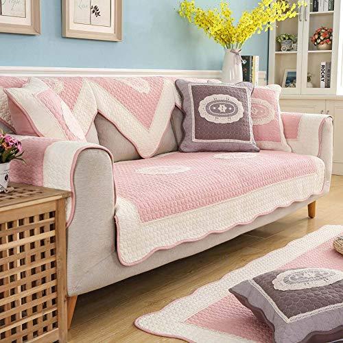 DADAO Fundas de sofá Fundas para Sala de Estar,Nórdico algodón Antideslizante sofá Toalla 1 Pieza-Rosado...