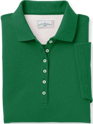 Outer Banks Women's Egyptian Diamond Knit Polo, 2XL-Turf Green ()