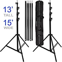 Ravelli ABSL Photo Video Backdrop Stand Kit 13 Tall x 15 Wide with Dual Air Cushion Stands and Bag