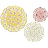 Talking Tables Tea Party Floral Paper Doilies | Truly Scrumptious | Assorted Sizes, 24 Pack