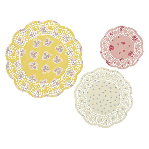 Talking Tables Tea Party Floral Paper Doilies, Truly Scrumptious, Assorted Sizes, 24 Pack (Vintage Tea Party)