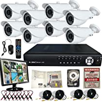 8 Channel Surveillance 3G & WIFI Support H.264 DVR Clouid Option D/N Security System 2TB+LCD