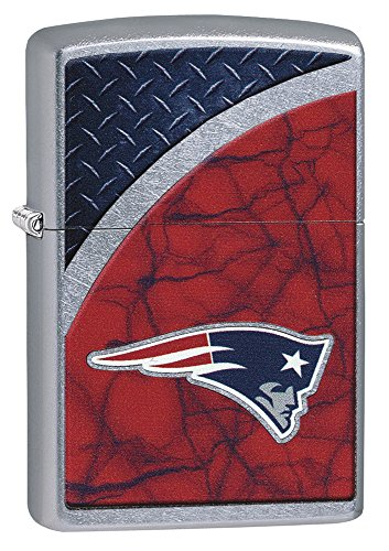 Zippo NFL New England Patriots Street Chrome Pocket Lighter