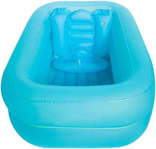 LYM & bañera Plegable Bañera para niños Bañera Inflable Barril ...
