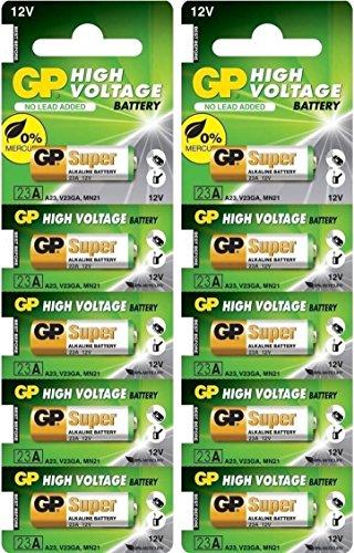 GP 23AE 12V Batteries (Pack of 10)