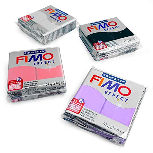 - FIMO Effect Polymer Oven Modelling Clay - 4 x 2 oz Clays - Set of 4 - Pearl Finish