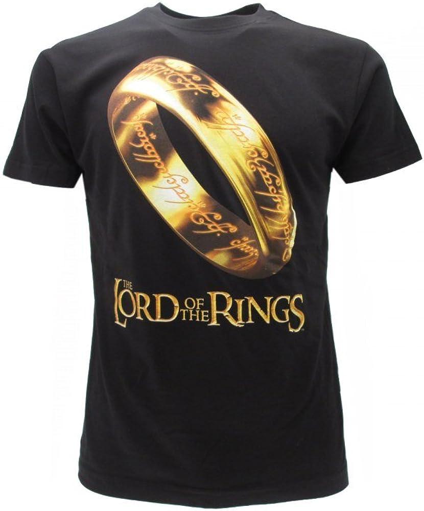 il Signore degli Anelli T-Shirt Originale Anello del Potere con cartellino ed Etichetta di originalit/à The Lord of the Rings