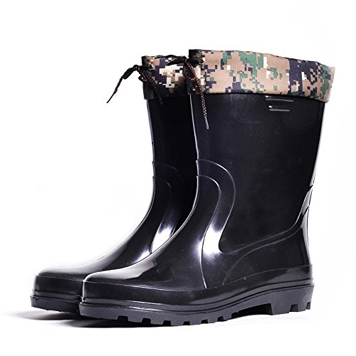 Nordman Mens Waterproof Rain Boots Removable Warm Liner