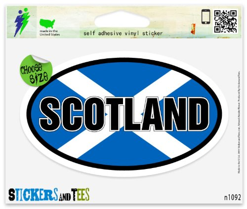Scotland Flag Oval Vinyl Car Bumper Window Sticker 5