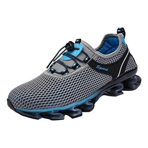 Dainzuy Men's Shoes Sneaker for Mens,Dainzuy Casual Mesh Athletic Walking Sneaker Running Light Slip On Outdoor Sport Shoes (EU:40 US:7.5, Gray)