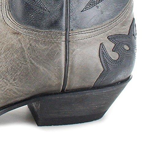 Sendra Stivali 13170 Marron Tang Stivali Di Pelle Per Le Donne E Gli Uomini Stivali Western Marrone Grigio Negro
