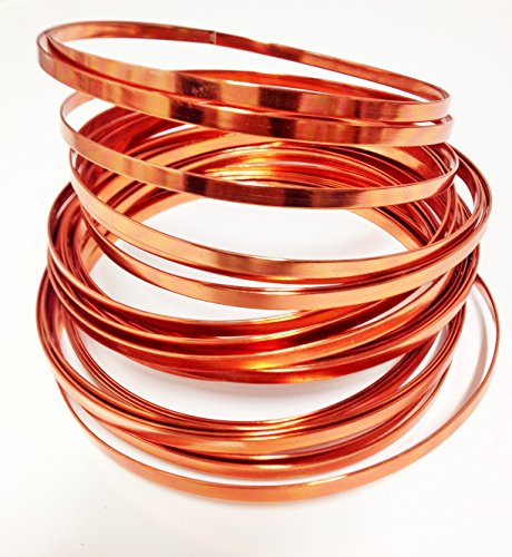 Flat Aluminum Wire 32ft L X 3/16in W (copper)