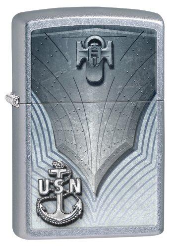 Zippo Zip (Zippo United States Navy Lighter, Street Chrome)