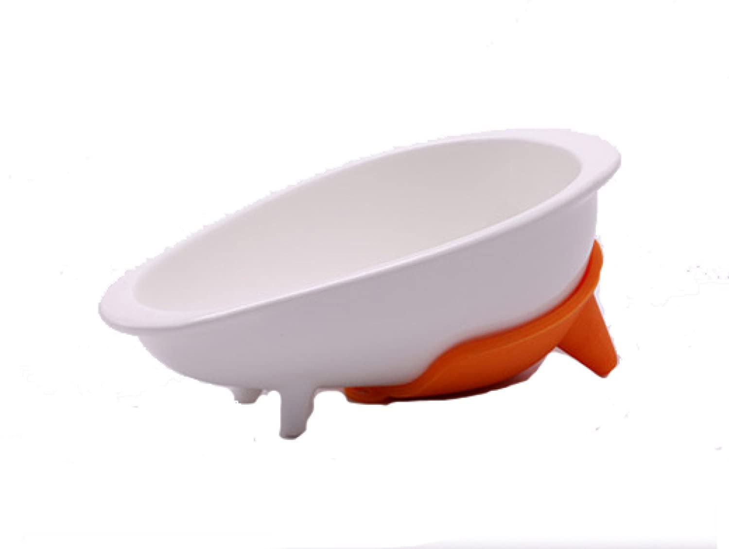 Ceramic Dog Feeding Bowl Anti-slip Rubber Base For Dogs Especially Dachshund 21.5  11  7.8 Cm