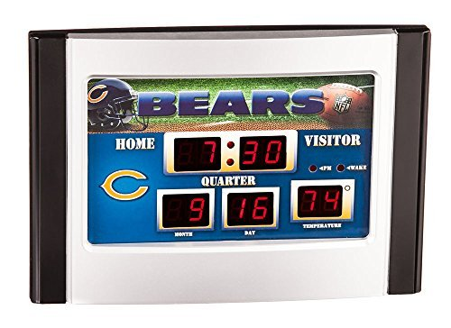 Chicago Bears Official NFL 6.5 inch x 9 inch Scoreboard Desk & Alarm Clock by Evergreen Enterprises
