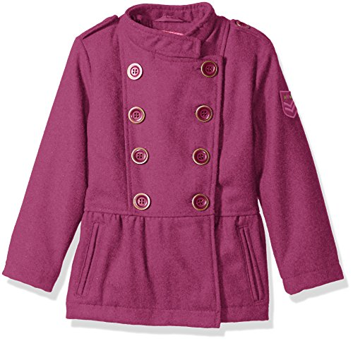 Pink Platinum Little Girls' Military Wool Coat, Fuchsia, 4 (Cream Spring Coat)