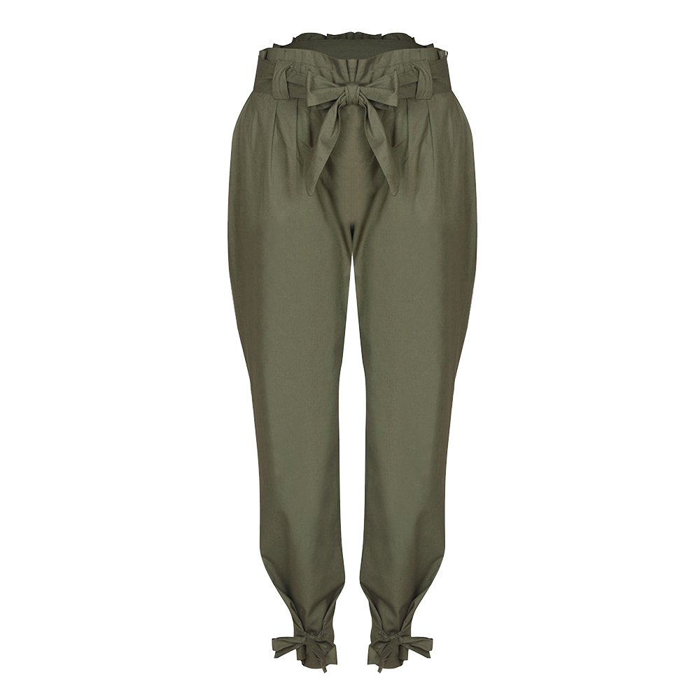 Wenyujh  Damen Hose Freizeithose Schleife High Waist mit Gürtel Tasche Streetwear  Skinny Hose Strumpfhose Lang Sommer Mode Trendig  Amazon.de  Bekleidung 214710ac37
