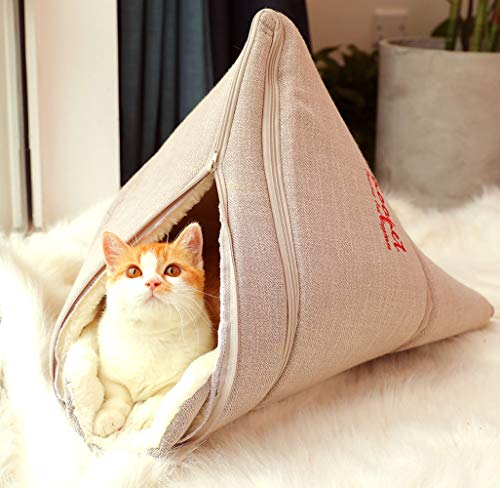 MaruPet Soft Cat Pet Bed Kitty House Indoor Outdoor Warm Shelter Triangle S