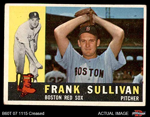 1960 Topps # 280 Frank Sullivan Boston Red Sox (Baseball Card) Dean's Cards 3 - VG Red Sox