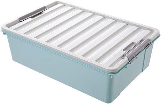 WYCD Caja De Almacenamiento Multiusos Bajo Cama con Tapa Plástico Organizador para Ropa De Cama Libro Merienda,Blue: Amazon.es: Hogar