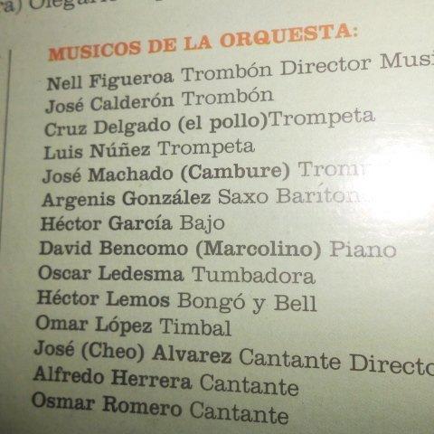 Nell Figueroa, Jose Calderon, Cruz Delgado, Luis Nuñez, Jose Machado, Argenis Gonzalez, Hector Garcia, David Bencomo, Oscar Ledesma, Hector Lemos, ...