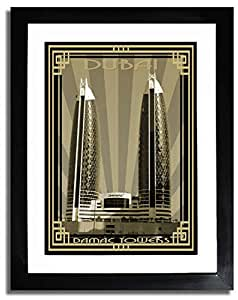 Photo of Damac Tower-Sepia With Gold Border F07-M (A5)