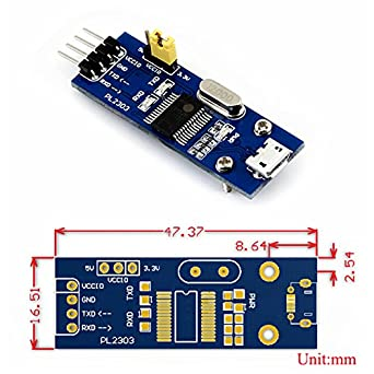 CQRobot Supports Windows XP / 7/8 / 8 1/10, PL2303 USB UART Board