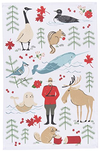 Now Designs Cotton Kitchen Towel, True North Print