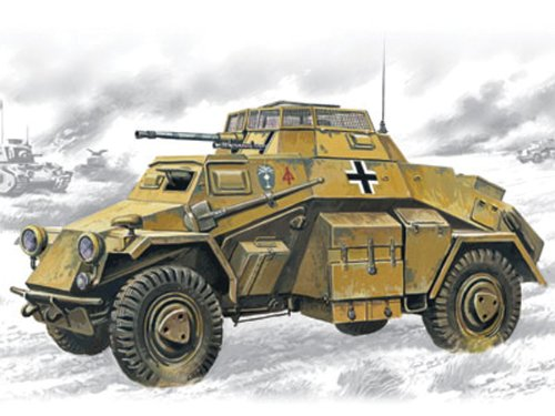 - ICM Models Sd.Kfz.222 Light Armored Vehicle Building Kit