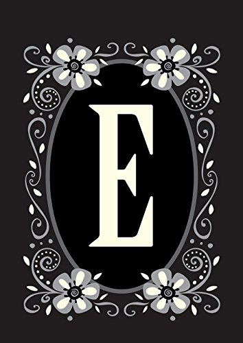 - Toland Home Garden Classic Monogram E 28 x 40 Inch Decorative Flower Initial House Flag