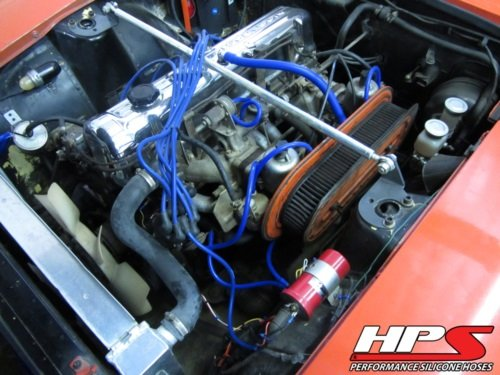 HPS Red Silicone Vacuum Hose Kit for 70-73 Nissan Datsun 240Z S30 2.4L