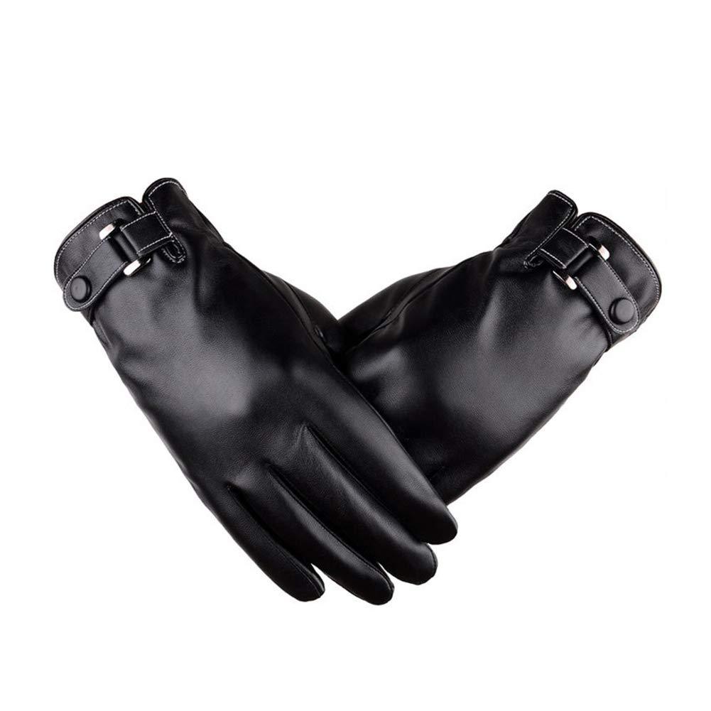 schwarz lederhandschuhe f/ür m/änner frauen touchscreen wasserdicht winter warme thermische handschuhe outdoor winddicht kaltes wetter radfahren fahren reithandschuhe