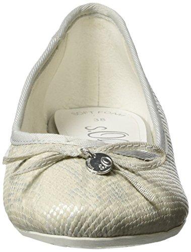 s.Oliver Women's 22123 Ballet Flats Grey (Lt Grey Str. 209) bHGX3f