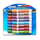 Expo 81045 Low-Odor Dry Erase Markers, Chisel Tip, 16-Pack, Assorted
