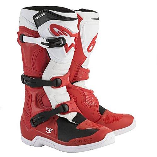 (Alpinestars Tech 3 Mens MX Offroad Boots Red/White 13 USA)