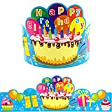 Birthday Crowns for Kids Classroom School VBS Party Supplies Pack of 30