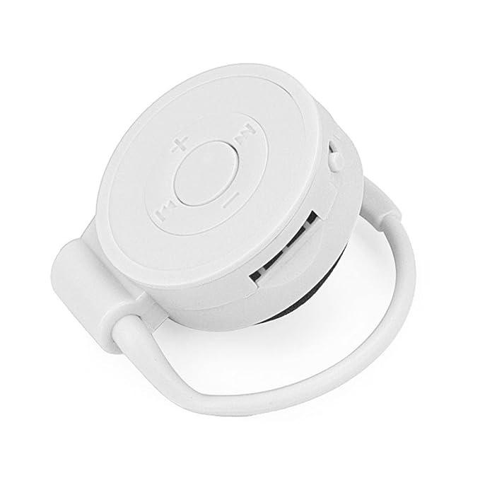 TAOtTAO deporte running gancho para la oreja USB Digital MP3 reproductor de música compatible con 32 GB Micro SD TF tarjeta, color blanco: Amazon.es: ...