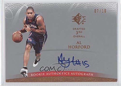 08 Basketball Rookie Pack (Al Horford #7/10 (Basketball Card) 2007-08 SP - Rookie Authentics Autograph - Super Pack #153)